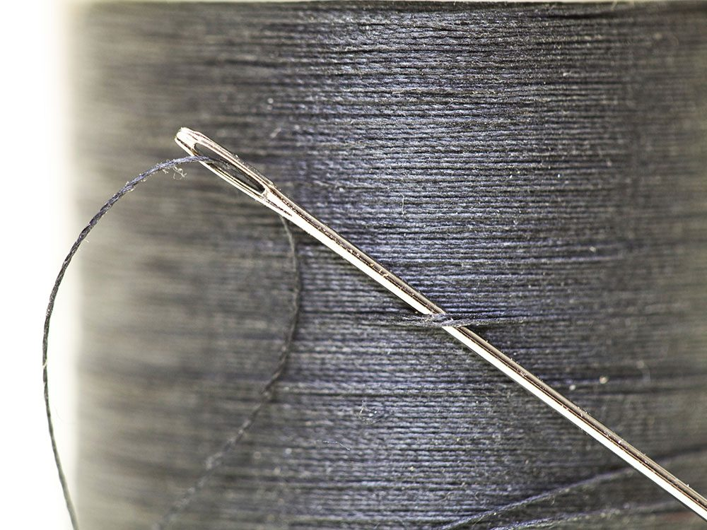 Uses for sandpaper - sharpen sewing needles