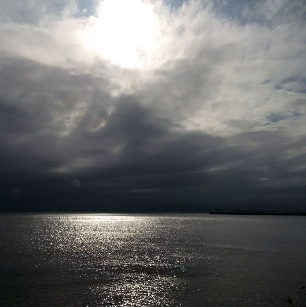 Stormy sky over Northumberland Strait