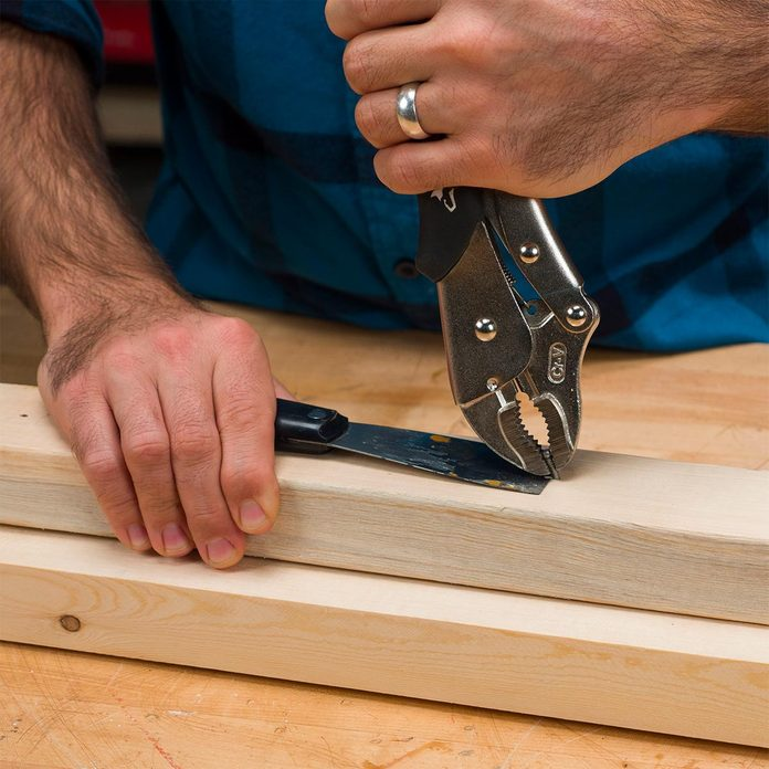 pulling nail with Vise-Grips