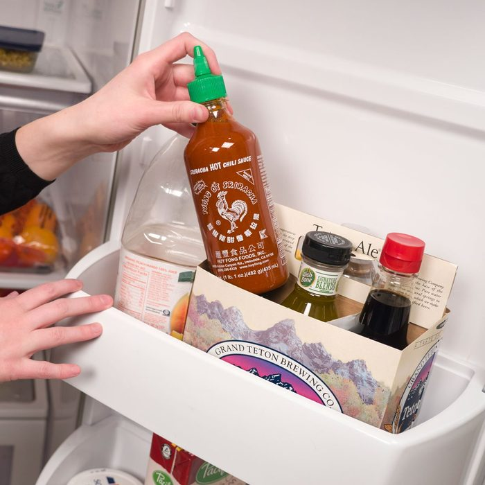 HH Six Pack Organizer Fridge Door Sriracha