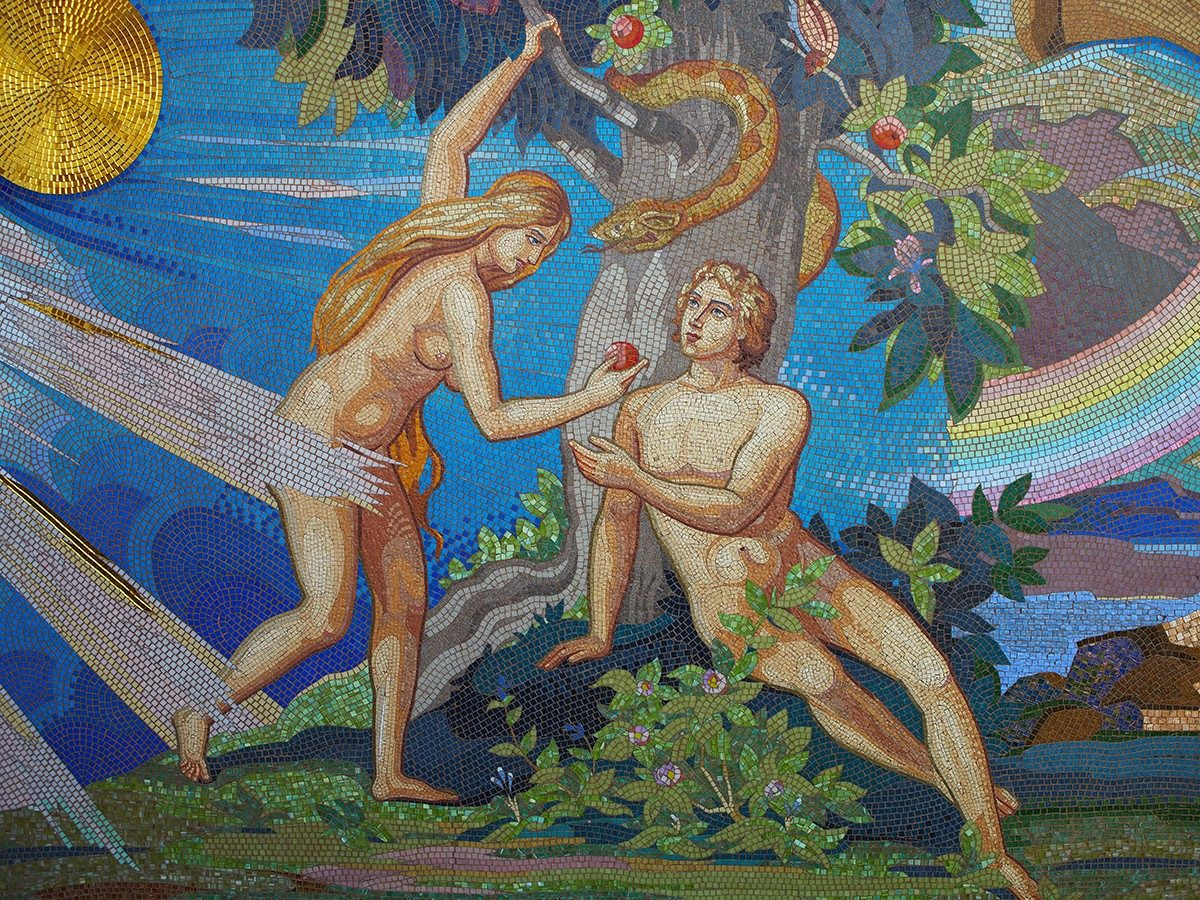 Best jokes of all time - Adam and Eve mosaic