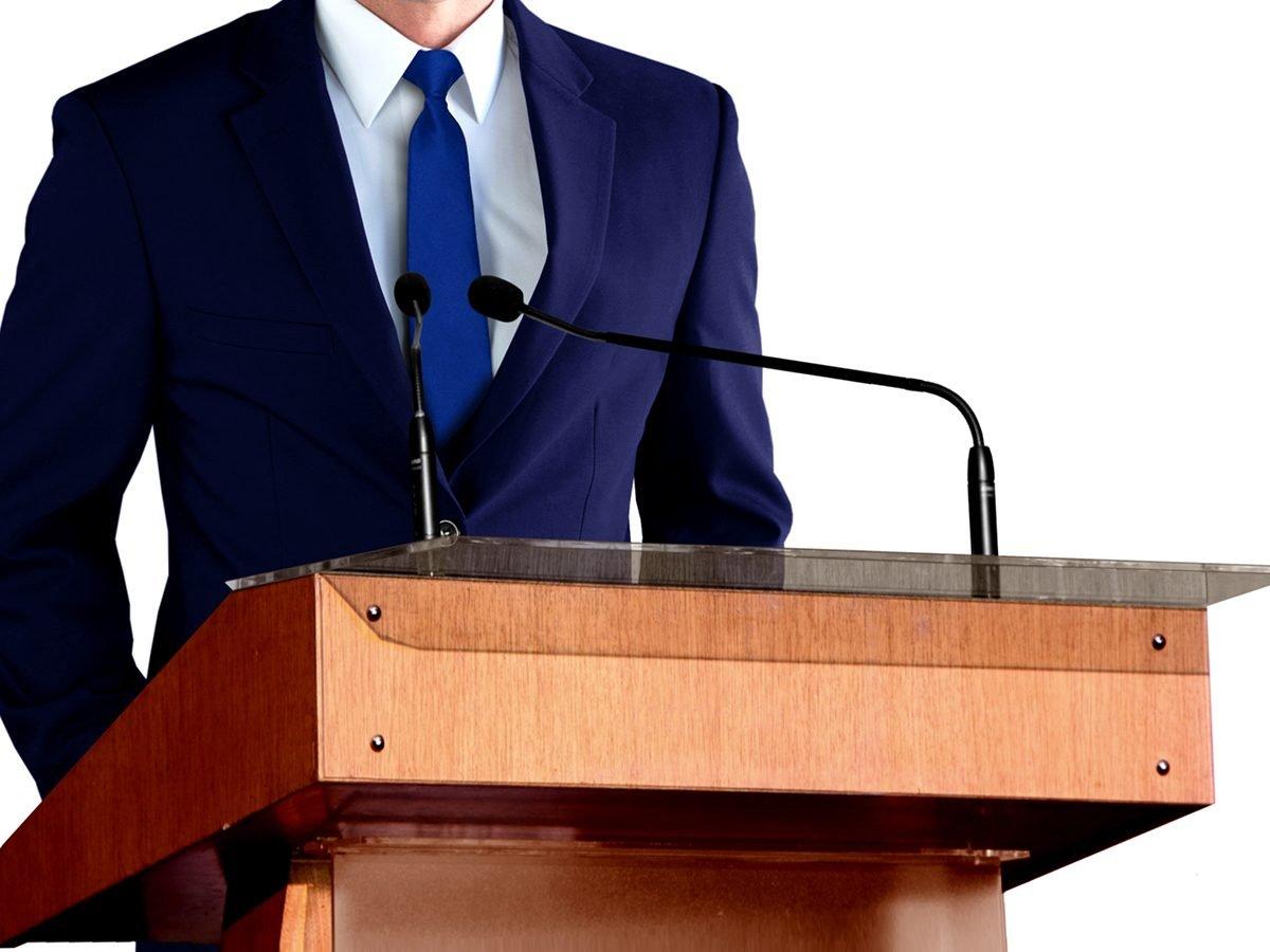 Best jokes of all time - man speaking at podium
