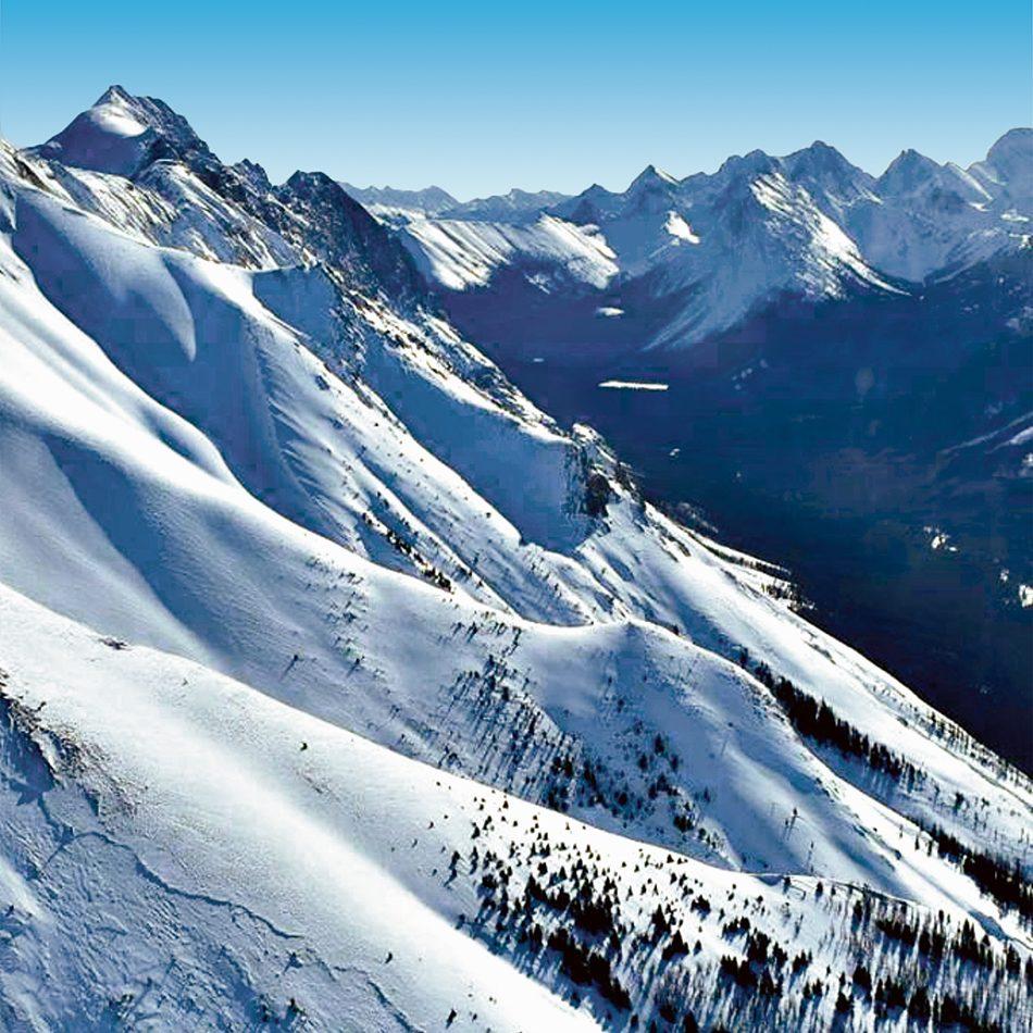 Soaring peaks of the Canadian Rockies