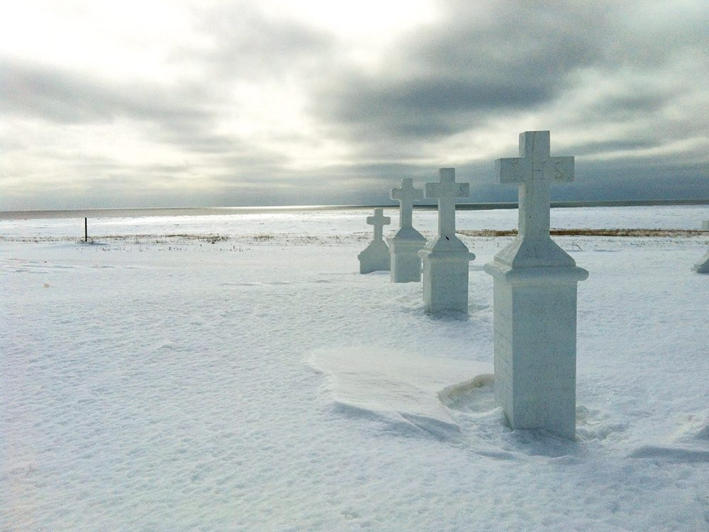 Canadian winter cemetery