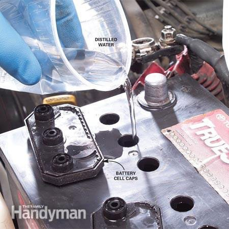 Check your car battery's electrolyte level