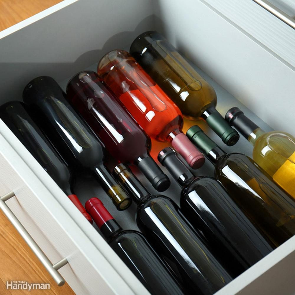 wine in a drawer