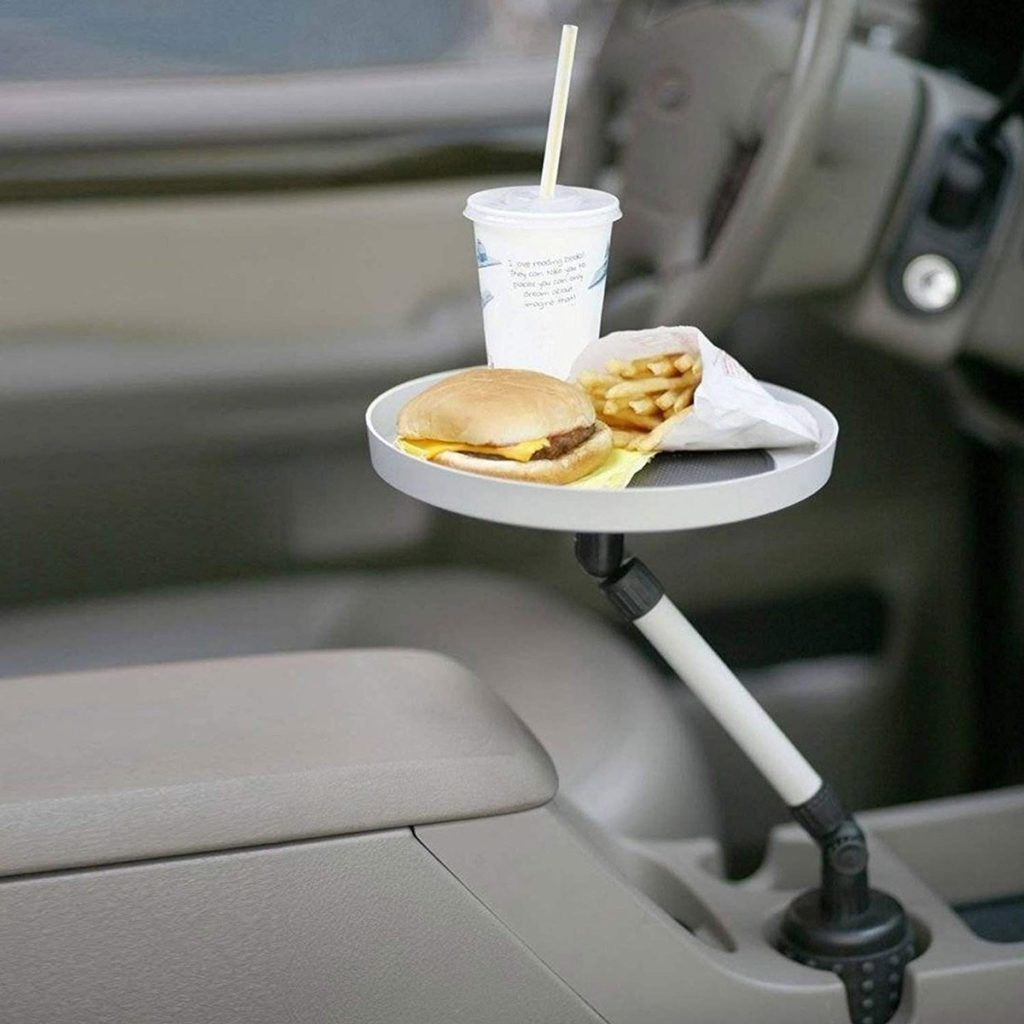 Car swivel tray