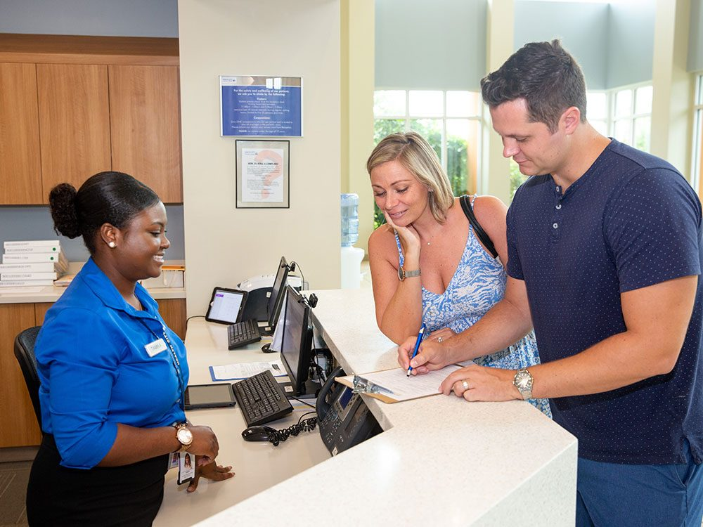 Health City check-in procedures