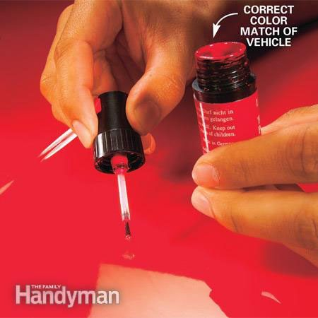How to fix paint chips on a car - step 4