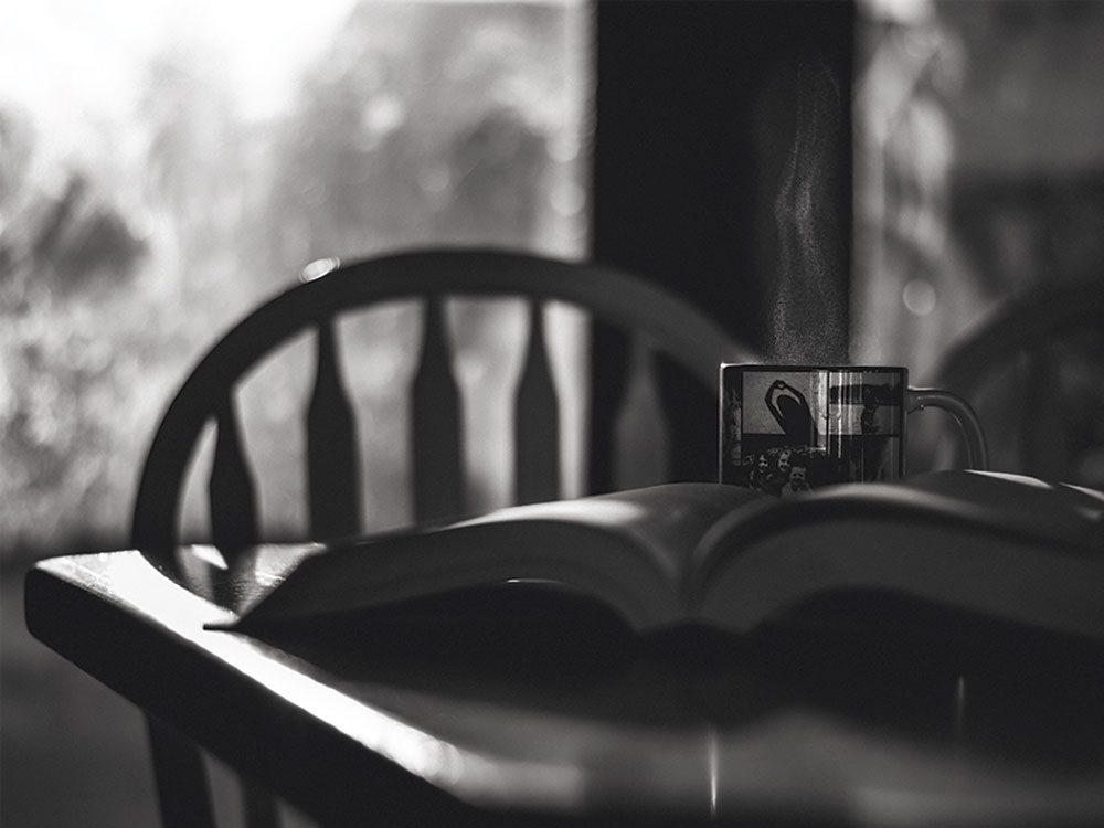 Coffee on dinner table