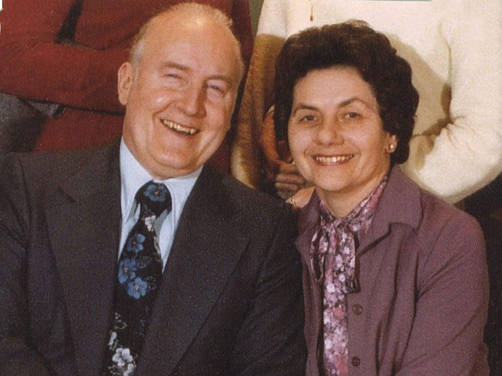 Adeline with her husband