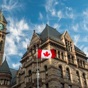 Moving to Canada - Canada flag at Toronto City Hall