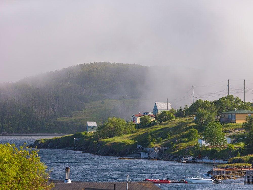 Newfoundland and Labrador foggy weather
