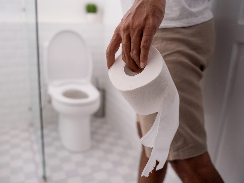 Man with toilet roll