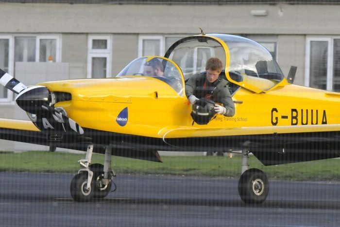 Prince Harry has a flying lesson, training to be an Army helicopter pilot, Army Flying Headquarters Middle Wallop, Hampshire, Britain - 18 Nov 2008