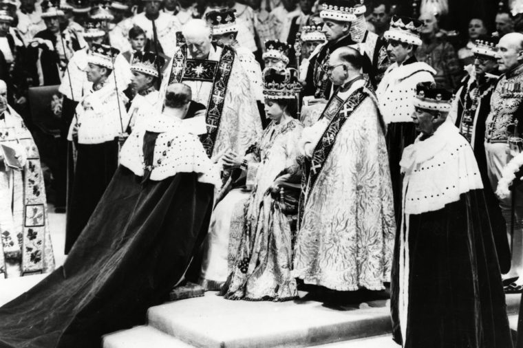Historical Collection 84 Coronation of Queen Elizabeth Ii On 2 June 1953 in Westminster Abbey Showing the Duke of Edinburgh Paying Homage 1953