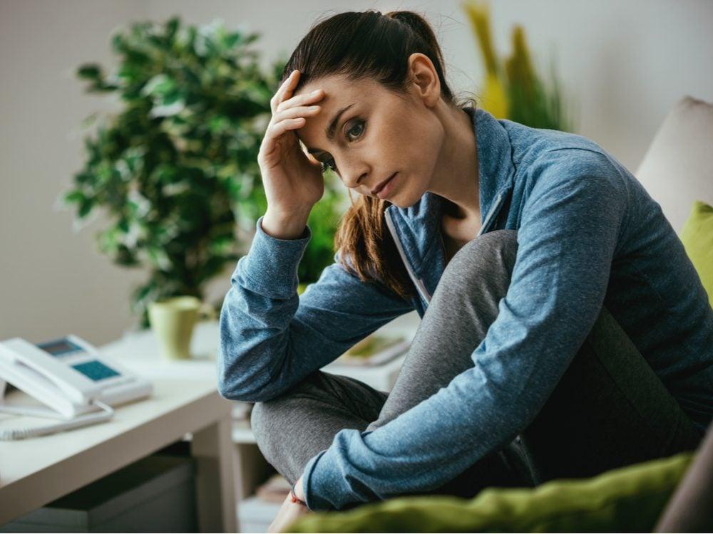 Depressed woman