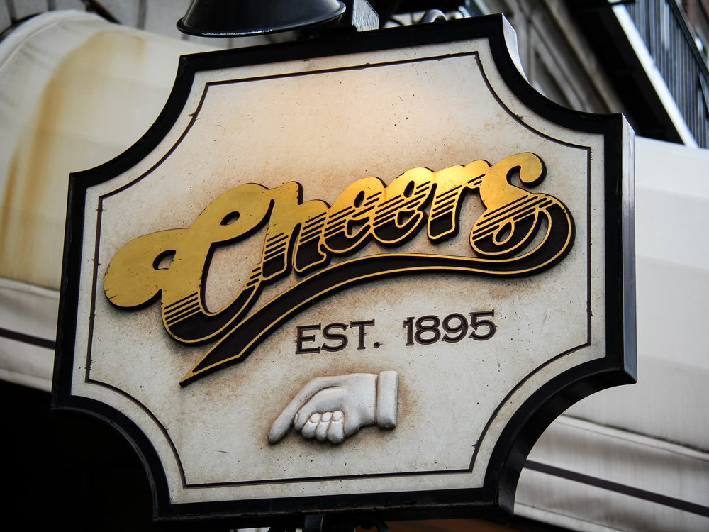 Cheer's bar sign in Boston