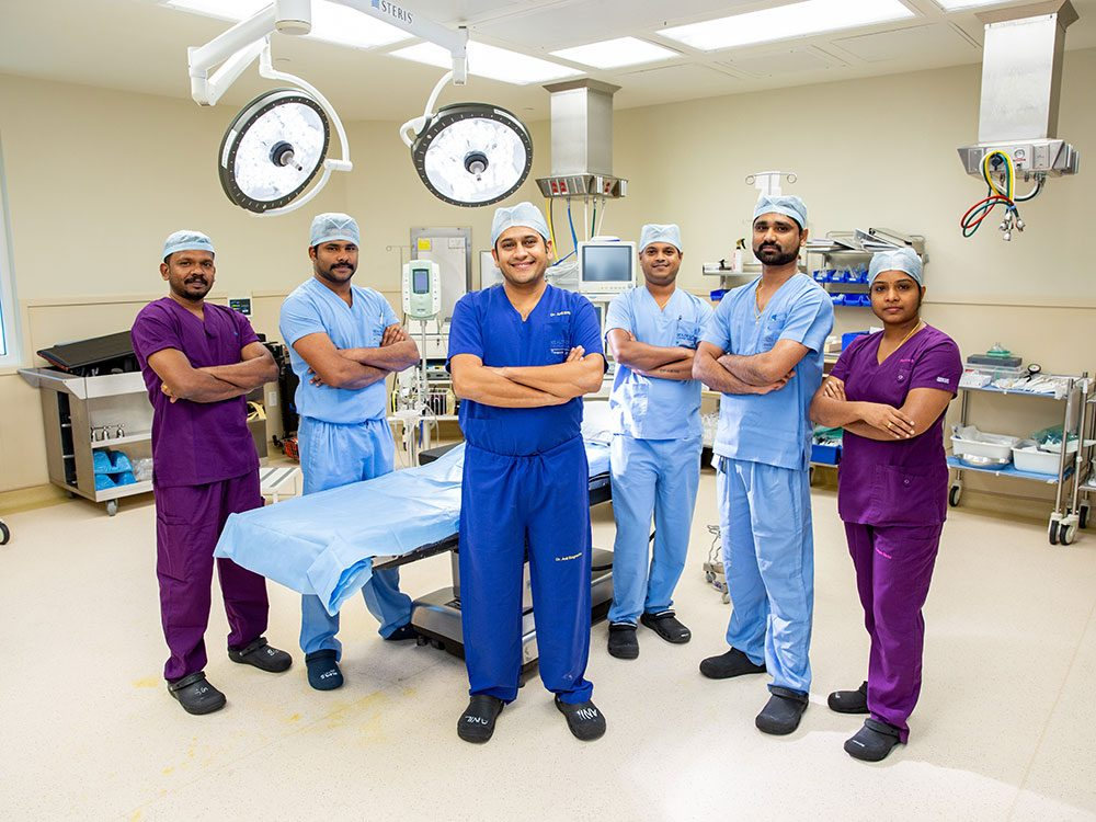 Surgical team at Health City Cayman Islands