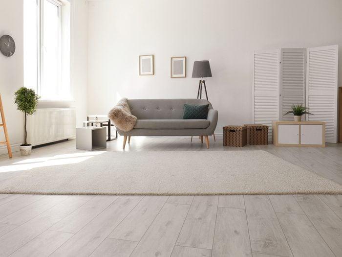 Modern, minimalist living room
