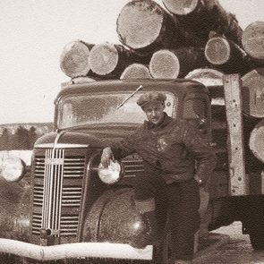 Logging in Quebec in the 1940s