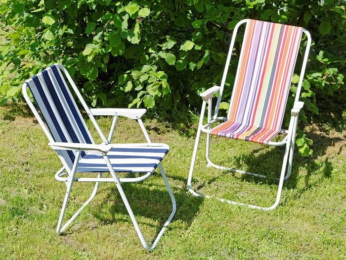 Uses for bleach - clean folding lawn chairs