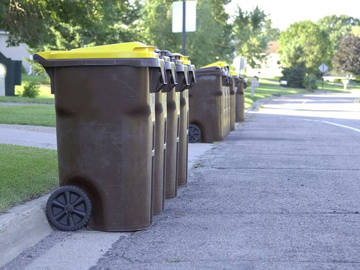 Uses for bleach - clean garbage cans