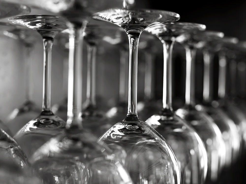 Uses for bleach - make glass sparkle