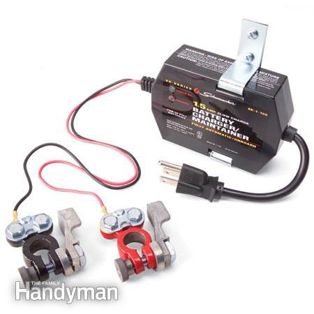 Using a battery maintainer
