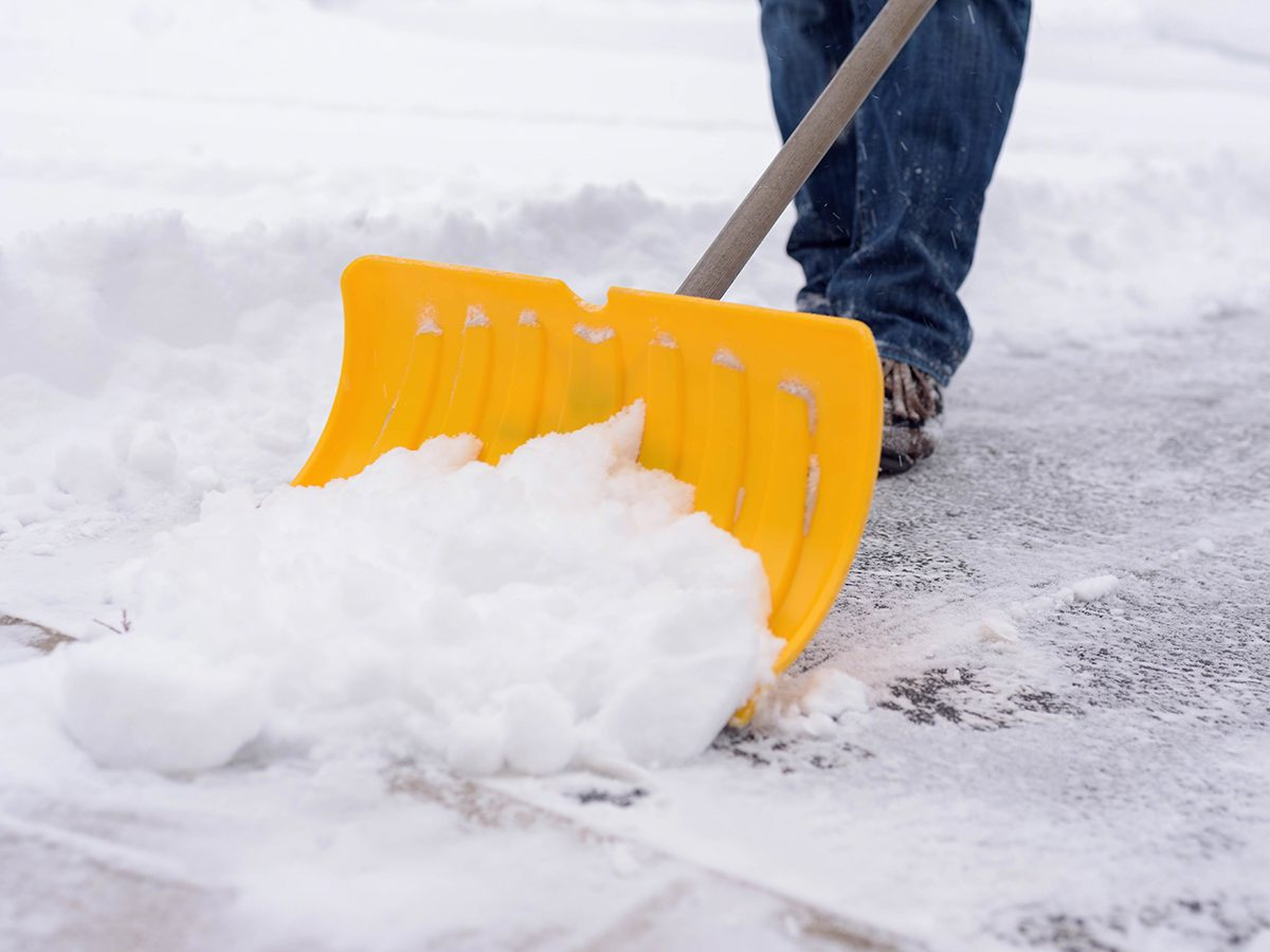 When to salt driveway - shovelling snow