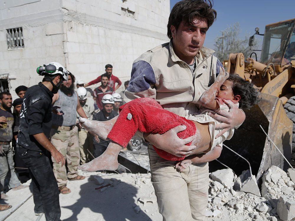 White Helmets in Action in Syria
