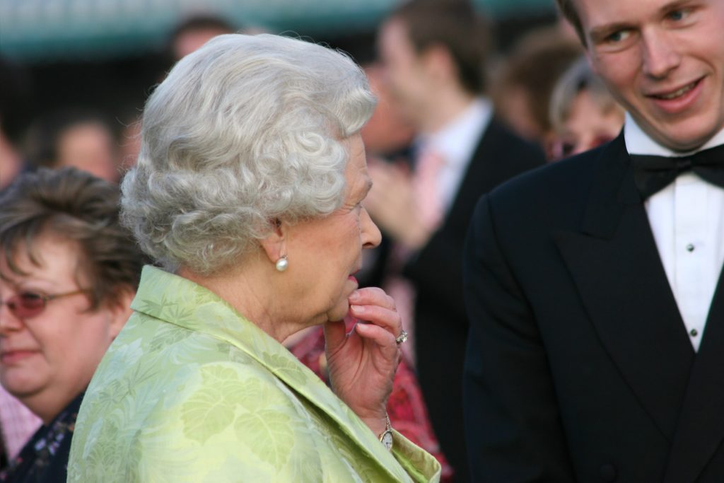 grant with the queen