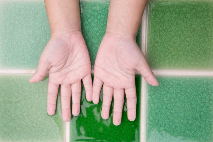 kid fingers got wrinkly from stayed in a pool so long, wrinkle finger skin