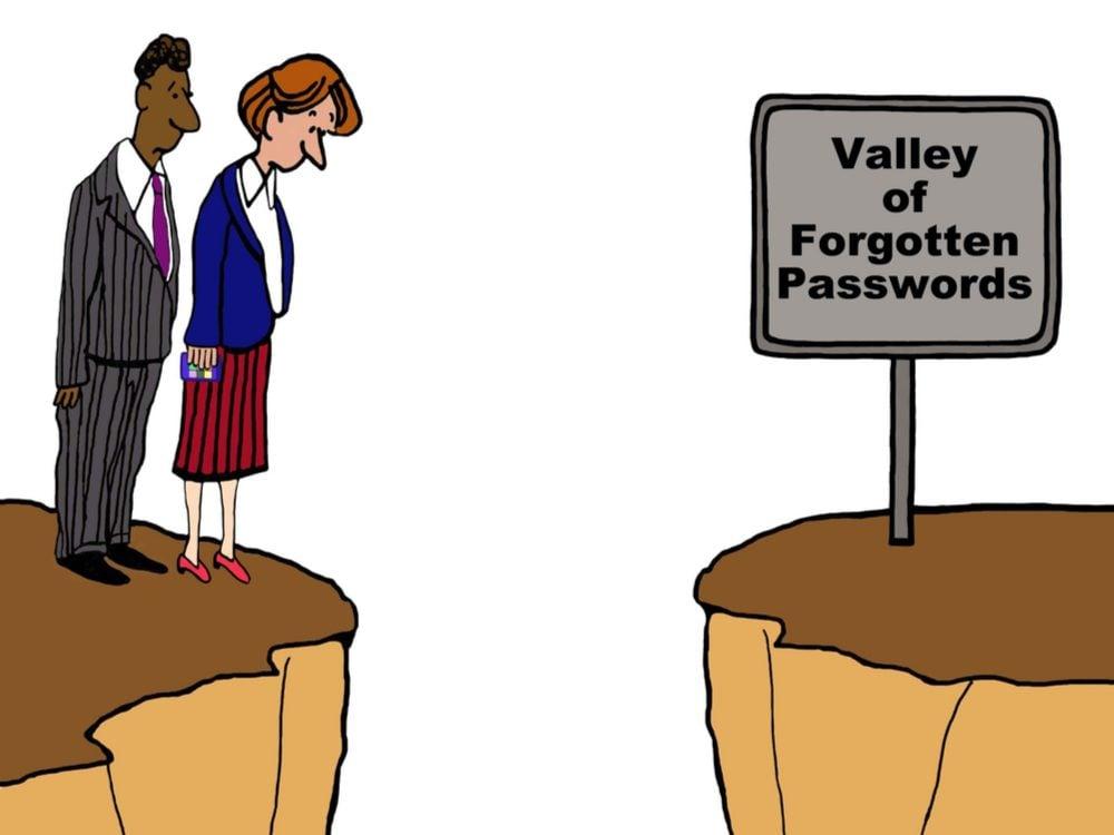 Valley of forgotten passwords