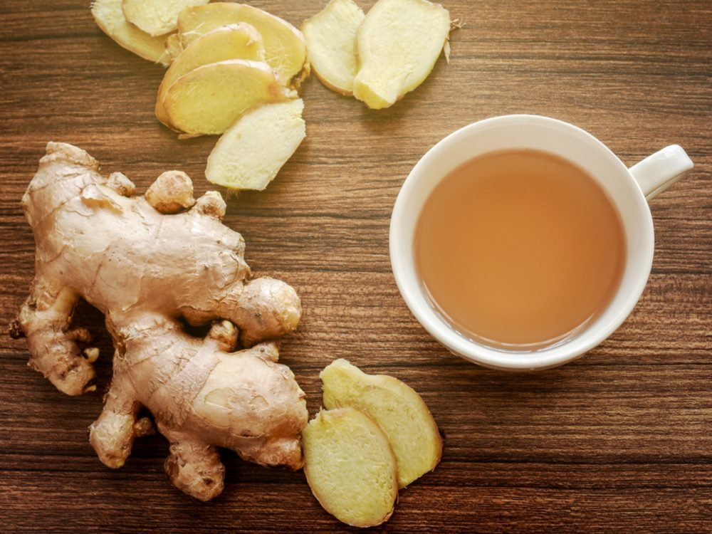 Home remedies for indigestion (ginger tea)