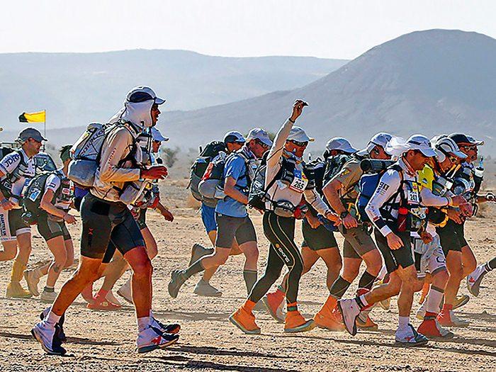 An ultra-marathon in the Sahara