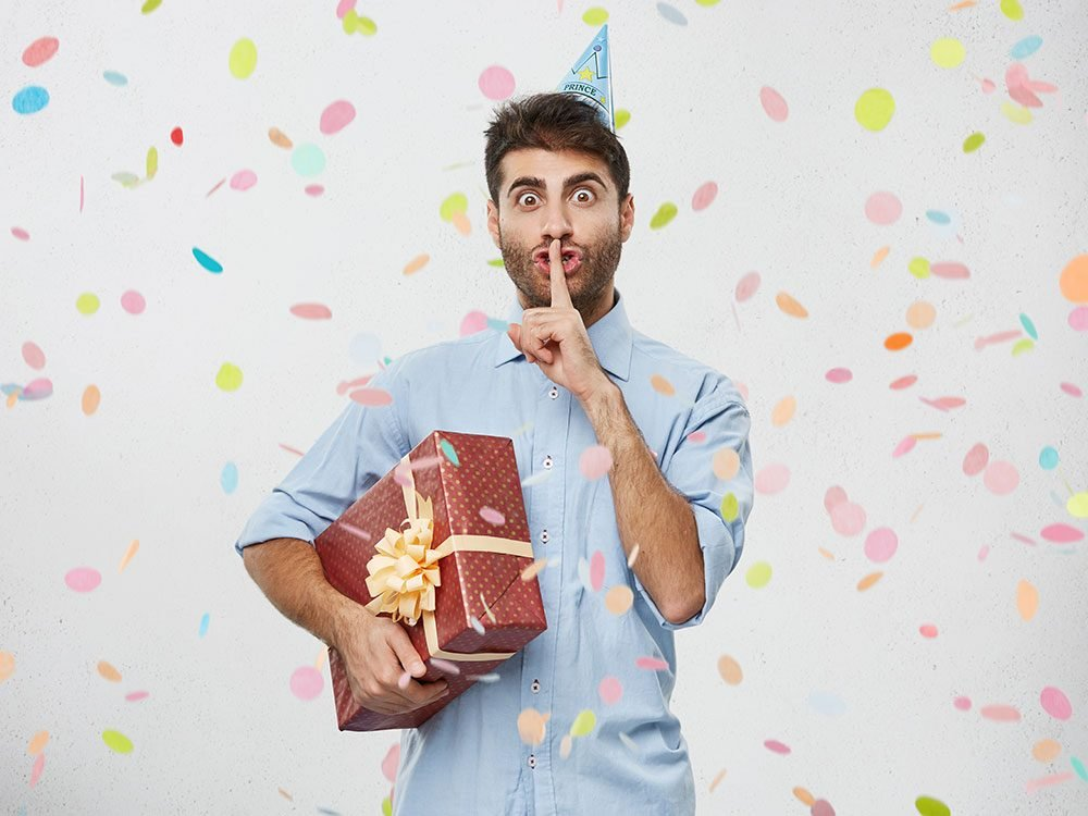 Birthday jokes - surprise party