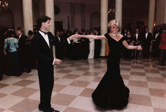 John Travolta dances with Princess Diana