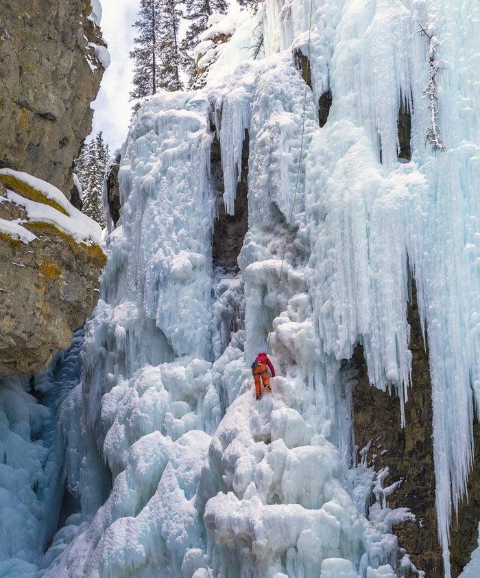Mountain climbing in the Canadian Rockies