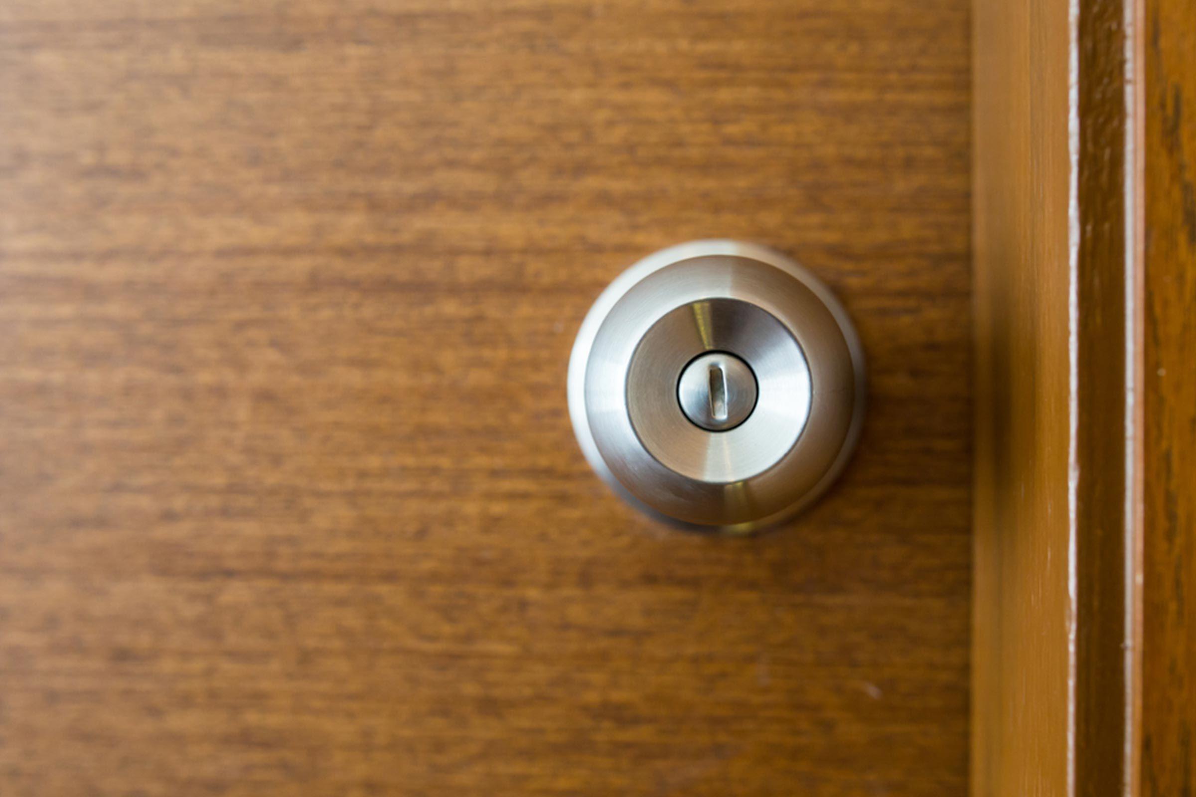 door knob wood