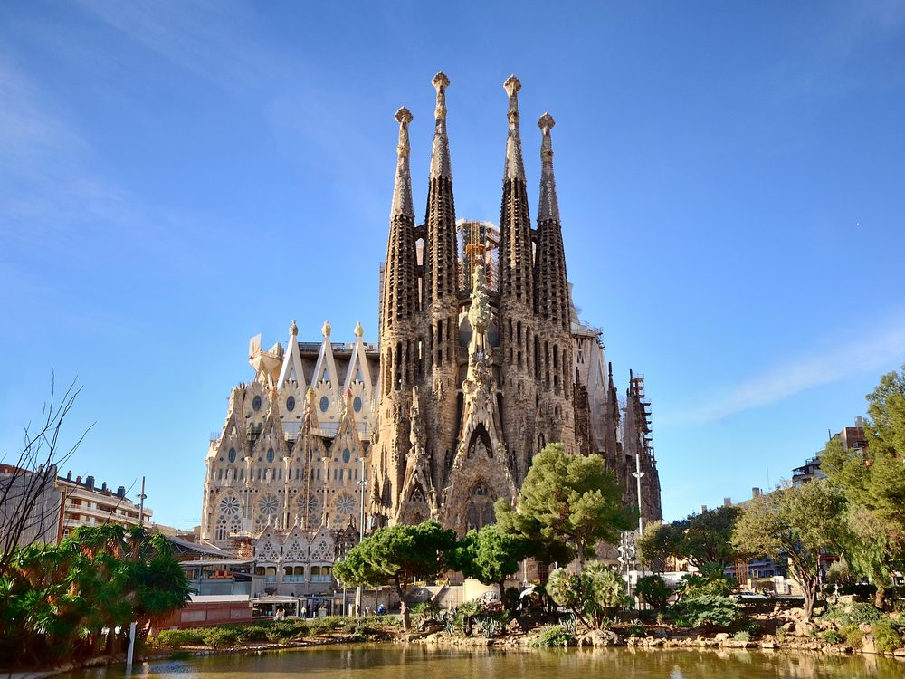 Sagrada Familia basilica in Barcelona, Spain