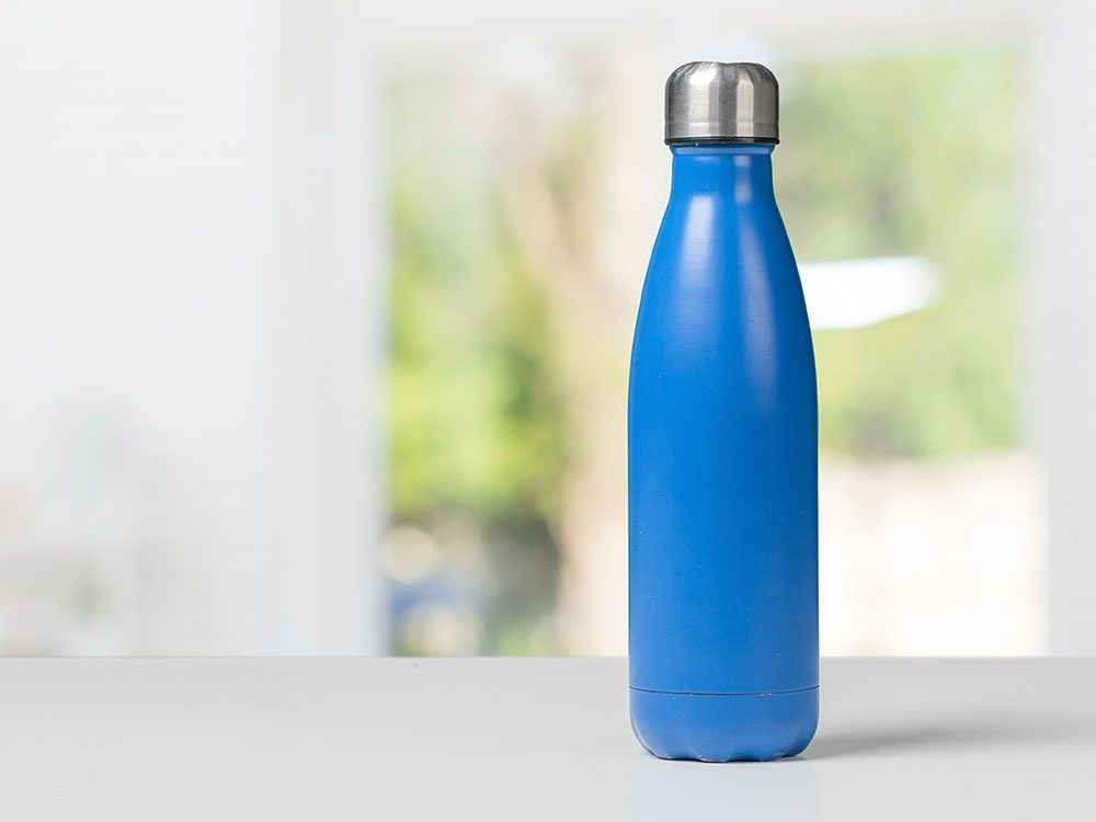 Let the water bottle sit overnight