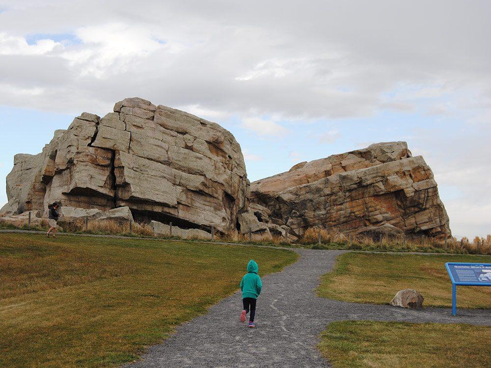 Rock formation in Alberta