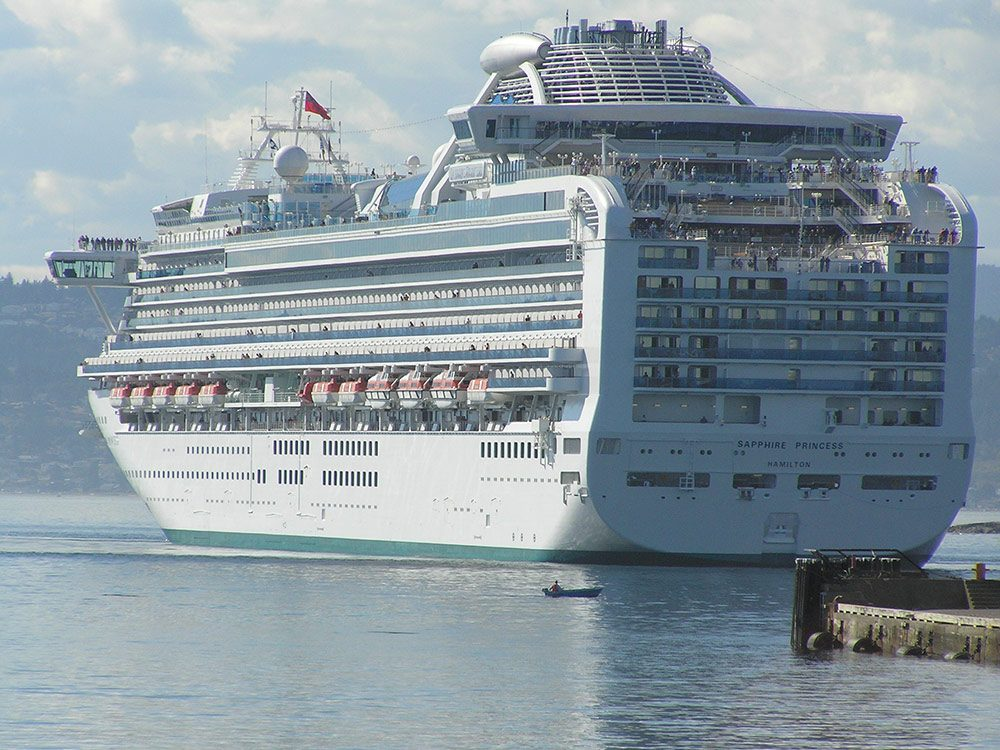 Cruise ship in Victoria, B.C.