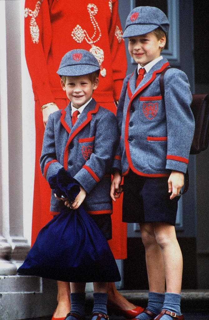 Princess Diana taking Prince William and Henry Harry to Wetherby school London, Britain - 1989