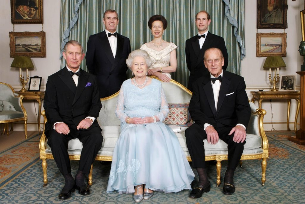 Queen Elizabeth II and Prince Philip with members of their family on the occasion of a dinner hosted to mark their forthcoming Diamond Wedding Anniversary, Clarence House, London, Britain - 18 Nov 2007