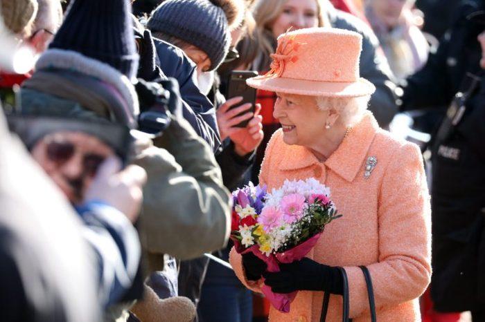 Queen Elizabeth II attends St Peter and St Paul church, West Newton, Sandringham, Norfolk, UK - 03 Feb 2019