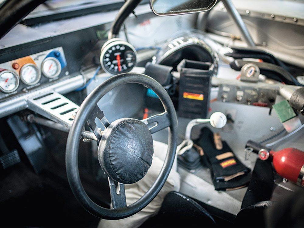 Inside the custom Chevy Camaro