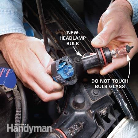 Replace the bulb in an auto light socket