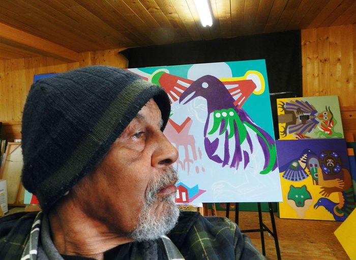 Robert Burke at work in his studio